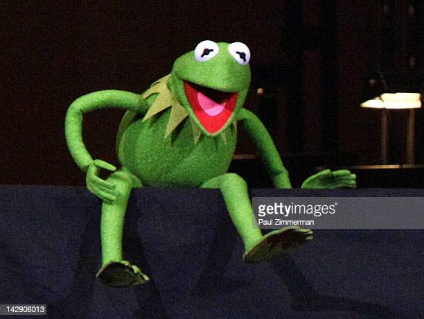 Kermit the Frog performs during the The New York Pops Present 'Jim Henson's Musical World' at Carnegie Hall on April 14 2012 in New York City