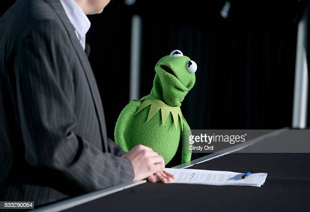 Kermit the Frog speaks at 'Morning with the Muppets' panel discussion at the Vulture Festival at Milk Studios on May 21 2016 in New York City