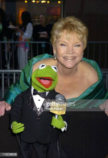 Kermit the Frog with Erika Slezak during 32nd Annual Daytime Emmy Awards Outside Arrivals at Radio City Music Hall in New York City New York United...