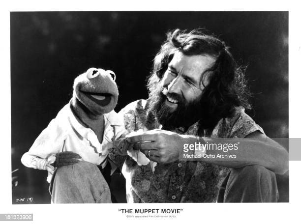Kermit the Frog/Jim Henson on set of The Muppet Movie in 1979