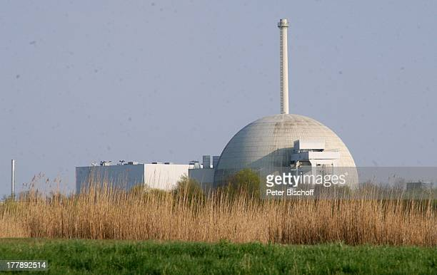 Kernkraftwerk Unterweser , nahe Rodenkirchen und Kleinensiel, Gemeinde Stadland, Landkreis Wesermarsch, Niedersachsen. Deutschland, Europa,...