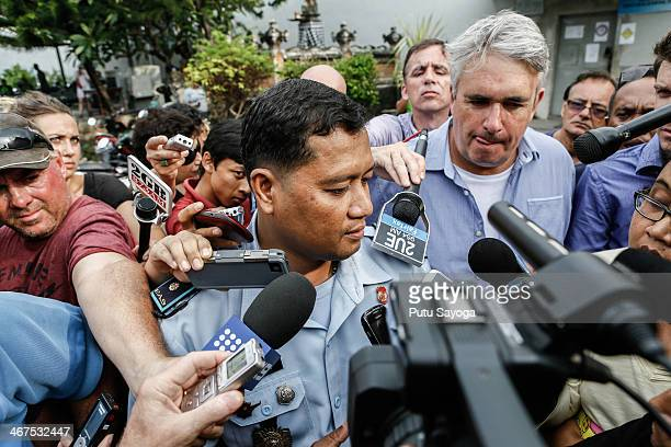 Kerobokan Prison Governor Farid Junaedi talks with media on February 7 2014 in Denpasar Bali Indonesia Australian Drug trafficker Schapelle Corby...