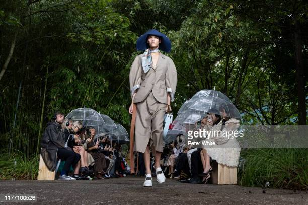Kerolyn Soares walks the runway during the Lanvin Womenswear Spring/Summer 2020 show as part of Paris Fashion Week on September 25, 2019 in Paris,...