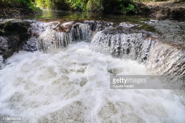 kerosene creek - rotorua stock pictures, royalty-free photos & images