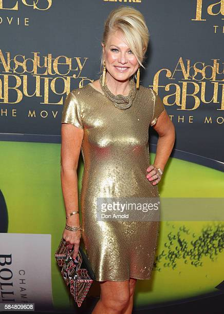 Kerri Anne Kennerley arrives ahead of the Absolutely Fabulous The Movie Australian premiere at State Theatre on July 31 2016 in Sydney Australia