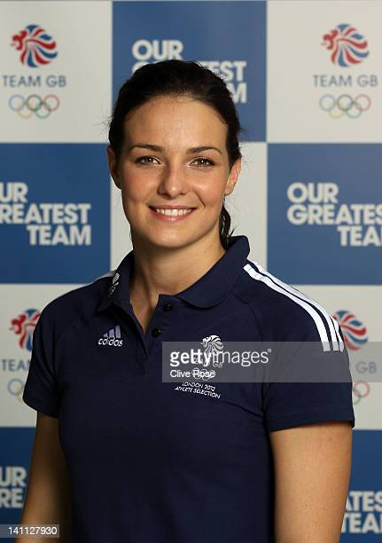 Kerri Anne Payne of Great Britain poses during day eight of the British Gas Swimming Championships at The London Aquatics Centre on March 10 2012 in...