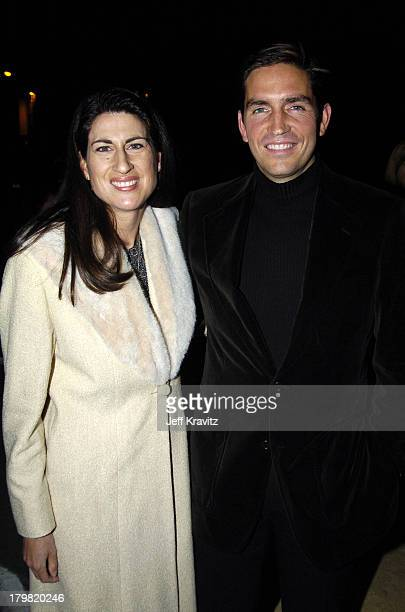 Kerri Browitt and husband James Caviezel during VH1 Big in '04 - Red Carpet at Shrine Auditorium in Los Angeles, California, United States.