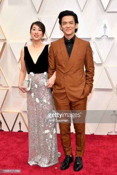 Kerri Higuchi and John Cho attend the 92nd Annual Academy Awards at Hollywood and Highland on February 09 2020 in Hollywood California