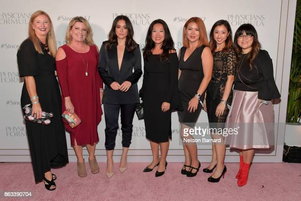 Kerri Hoffine Robin George actress Chloe Bennet Chuanyi Stephenson Ali Yoshida Darline Litam and VP Marketing Physicians Formula Alice Chen at...