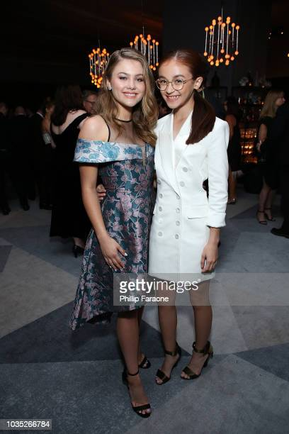 Kerri Medders and Anna Cathcart attend the 2018 Netflix Emmy AfterParty at NeueHouse Hollywood on September 17 2018 in Los Angeles California