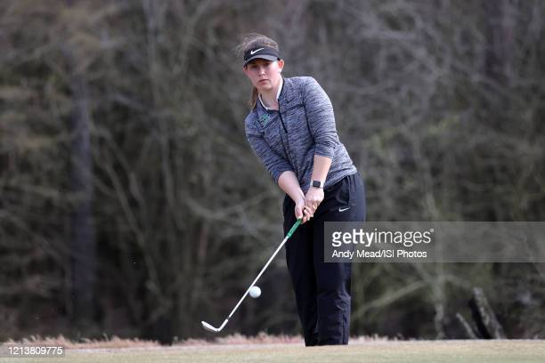 Kerri Parks of Marshall University chips onto the 16th green of the River Course at River Landing Country Club on March 09 2020 in Wallace North...