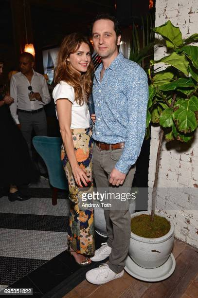 Kerri Russell and Matthew Rhys attend the Cecconi's Dumbo Opening Party hosted by Nick Jones Soho House on June 12 2017 in the Brooklyn borough of...