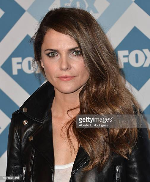 Kerri Russell arrives to the 2014 Fox AllStar Party at the Langham Hotel on January 13 2014 in Pasadena California