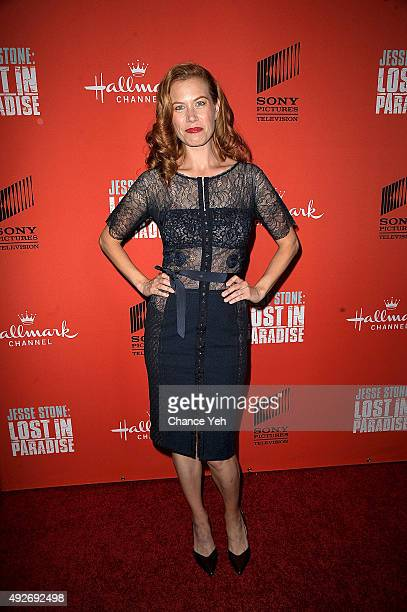 """Kerri Smith attends """"Jesse Stone: Lost In Paradise"""" New York premiere at Roxy Hotel on October 14, 2015 in New York City."""