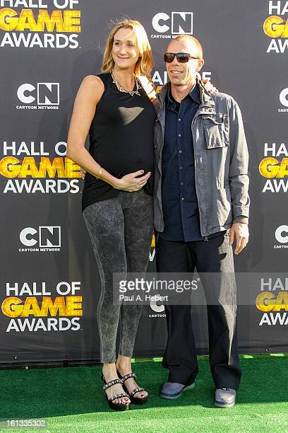 Kerri Walsh and husband Casey Jennings arrive at the 3rd Annual Cartoon Network's Hall Of Game Awards held at Barker Hangar on February 9 2013 in...