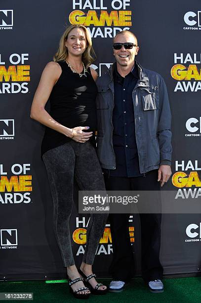 Kerri Walsh and husband Casey Jennings attend the Third Annual Hall of Game Awards hosted by Cartoon Network at Barker Hangar on February 9 2013 in...