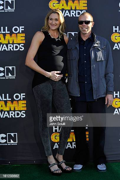 Kerri Walsh and husband Casey Jennings attends the Third Annual Hall of Game Awards hosted by Cartoon Network at Barker Hangar on February 9 2013 in...