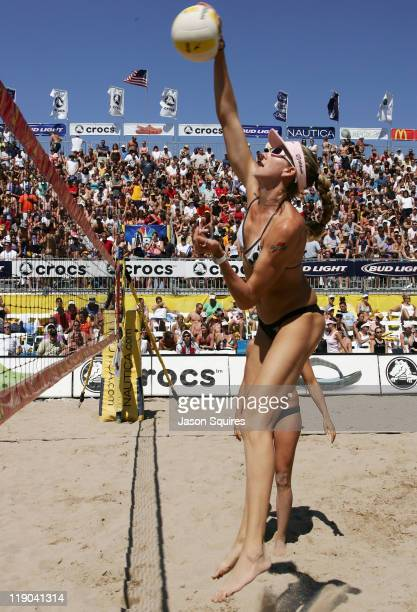 Kerri Walsh in action during the 2006 Chicago Open at North Avenue Beach in Chicago Illinois on July 23 2006