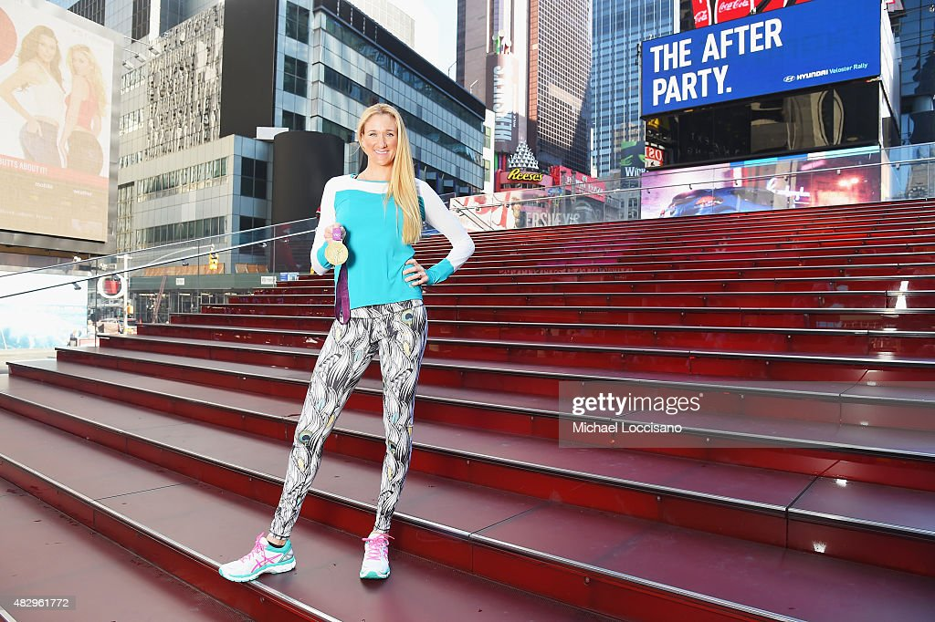 ASICS Elite Athlete Kerri Walsh Jennings Debuts Her New 'Kerri' Apparel Line with ASICS In The Heart Of Times Square