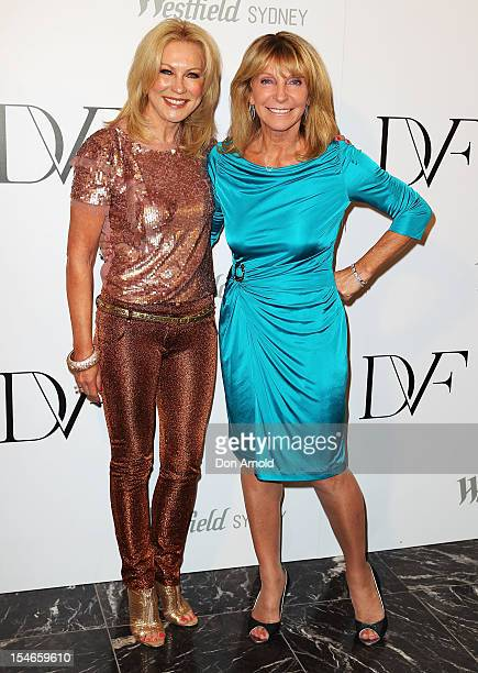 KerriAnne Kennerley and Bonnie Lithgow arrive at the Diane Von Furstenberg 2013 Palazzo DVF Collection show at Sydney Westfield Shopping Centre on...