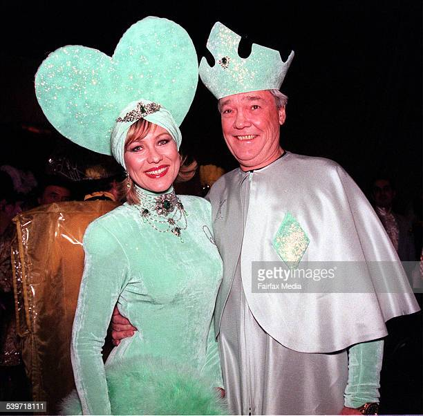 KerriAnne Kennerley and her husband John Kennerley at the Cointreau Ball 10 July 1998 SHD Picture by VIRGINIA STAR