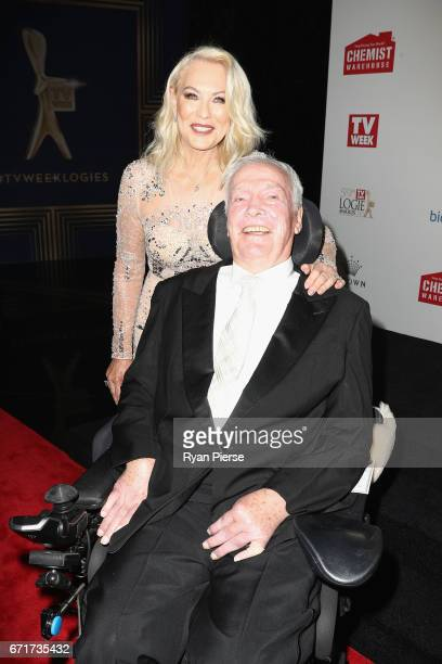 KerriAnne Kennerley and John Kennerley arrive at the 59th Annual Logie Awards at Crown Palladium on April 23 2017 in Melbourne Australia