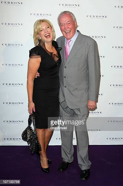 KerriAnne Kennerley and John Kennerley arrive at the Cerrone 2011 collection launch at Martin Place on November 24 2010 in Sydney Australia