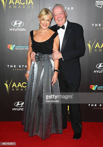 KerriAnne Kennerley and John Kennerley arrives at the 4th AACTA Awards Ceremony at The Star on January 29 2015 in Sydney Australia