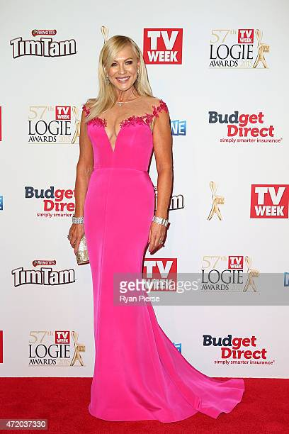 KerriAnne Kennerley arrives at the 57th Annual Logie Awards at Crown Palladium on May 3 2015 in Melbourne Australia