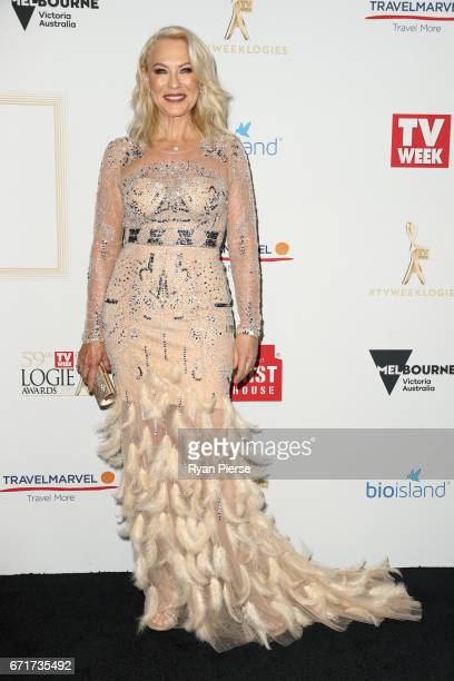 KerriAnne Kennerley arrives at the 59th Annual Logie Awards at Crown Palladium on April 23 2017 in Melbourne Australia