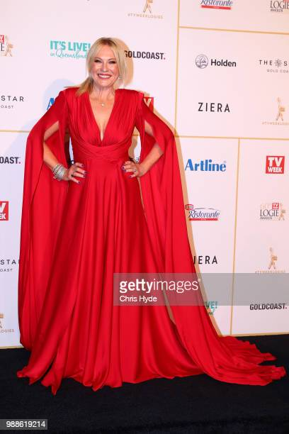 KerriAnne Kennerley arrives at the 60th Annual Logie Awards at The Star Gold Coast on July 1 2018 in Gold Coast Australia