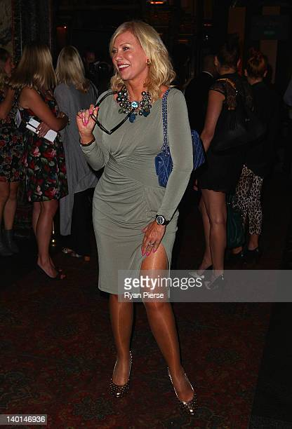 KerriAnne Kennerley arrives at the Alex Perry 2012 Collection launch at the Marble Bar on February 29 2012 in Sydney Australia