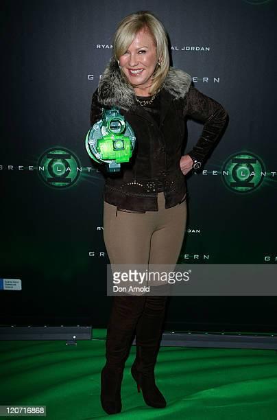 KerriAnne Kennerley arrives at the Green Lantern Australian premiere on August 9 2011 in Sydney Australia