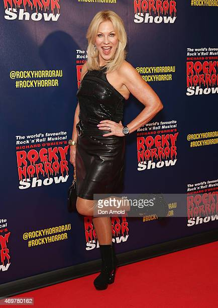 KerriAnne Kennerley arrives at the opening night of the Rocky Horror Picture Show at the Lyric Theatre Star City on April 15 2015 in Sydney Australia