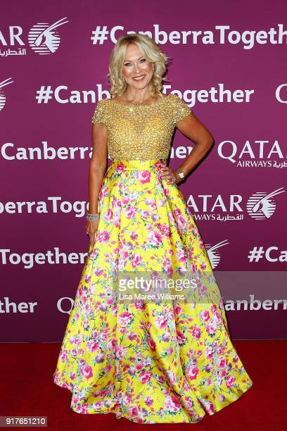 KerriAnne Kennerley arrives at the Qatar Airways Canberra Launch gala dinner on February 13 2018 in Canberra Australia