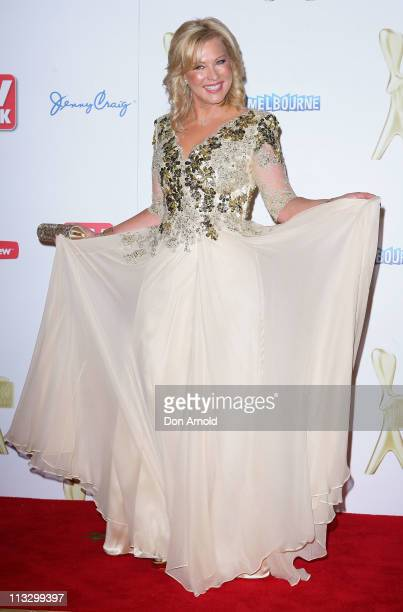 KerriAnne Kennerley arrives on the red carpet ahead of the 2011 Logie Awards at Crown Palladium on May 1 2011 in Melbourne Australia