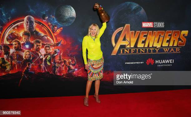 KerriAnne Kennerley attends the Avengers Infinity War Special Event Screening on April 24 2018 in Sydney Australia