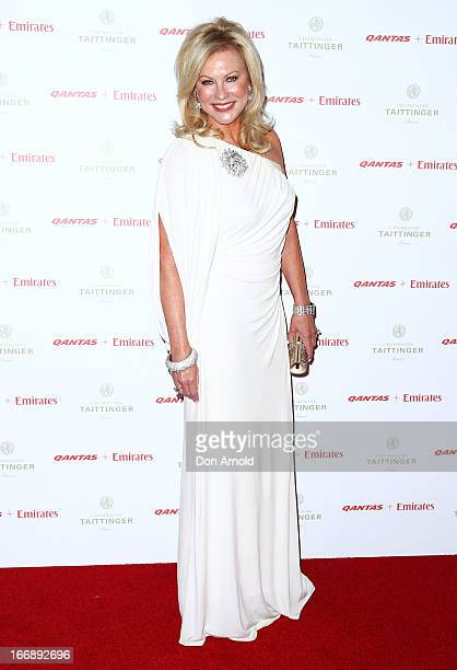KerriAnne Kennerley attends the QANTAS Gala Dinner at Sydney Domestic Airport on April 18 2013 in Sydney Australia