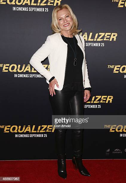 "Kerri-Anne Kennerley poses on the red carpet at ""The Equalizer"" Sydney Premiere at Event Cinemas George Street onSeptember 22, 2014 in Sydney,..."