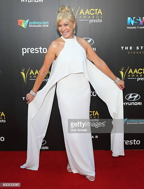 KerriAnne Kennerley poses on the red carpet for the 5th AACTA Awards at The Star on December 9 2015 in Sydney Australia