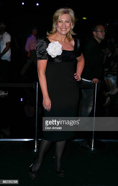 Kerri-Anne Kennerley poses pose prior to the Wayne Cooper show at the Overseas Passenger Terminal, Circular Quay on day one of Rosemount Australian...