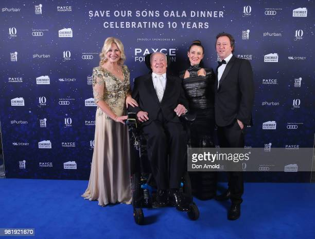 KerriAnne KennerleyJohn Kennerley Rebecca Marshall and Simon Kennerley attend the Save Our Sons Sydney Gala Dinner at the ICC Sydney on June 23 2018...
