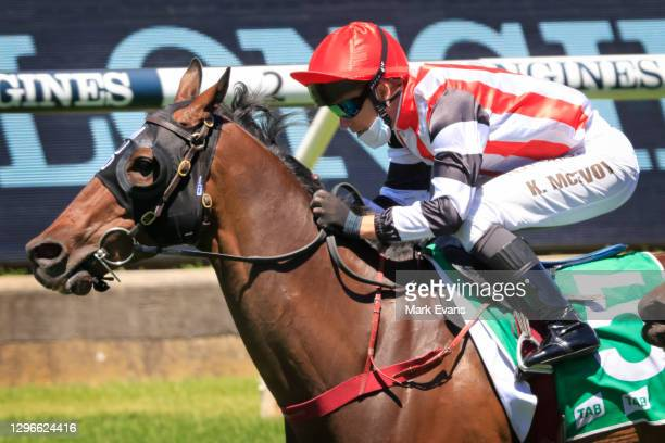 Kerrin McEvoy on Banger wins race 3 the TAB Highway Class 3 Handicap during Sydney Racing at Rosehill Gardens on January 16, 2021 in Sydney,...