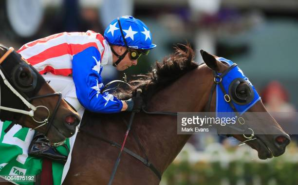 Kerrin McEvoy on Napoleon Solo wins race 8 The Rosehill Bowling Club Handicap during Sydney Racing at Rosehill Gardens on November 24, 2018 in...