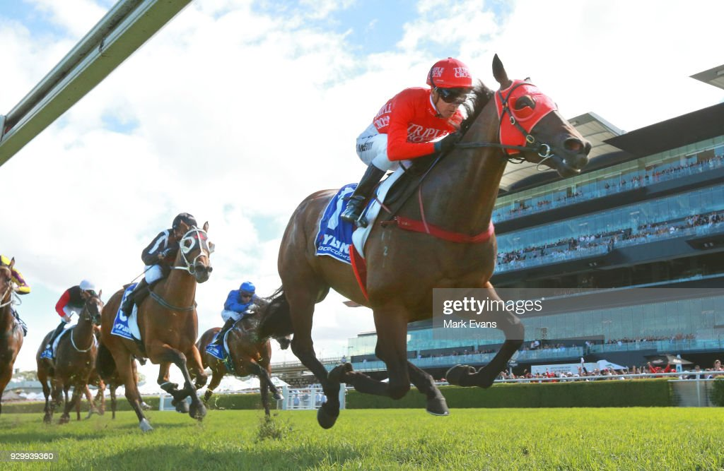 Kerrin McEvoy on Redzel wins race 5 during Sydney Racing at Royal Randwick Racecourse on March 10, 2018 in Sydney, Australia.