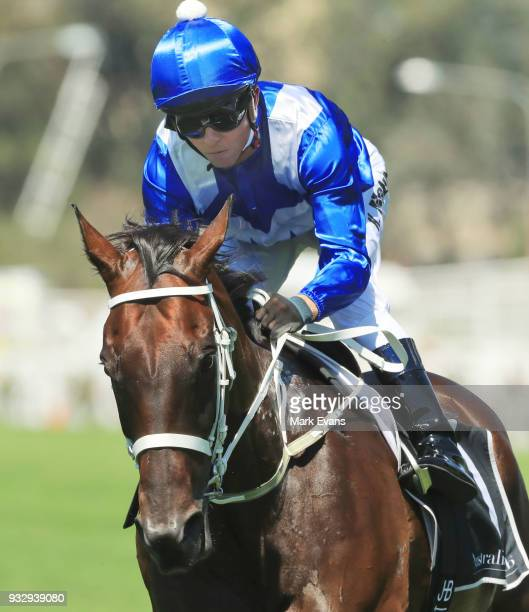 Kerrin McEvoy rides Winx in a gallop during Sydney Racing at Rosehill Gardens on March 17 2018 in Sydney Australia