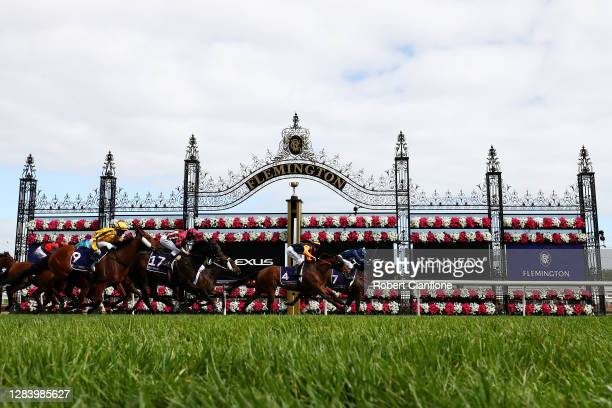 Kerrin McEvoy riding Do You Reckon wins race seven the Melbourne Cup Carnival Country Final from Mark Zahra riding Kaplumpich and Damien Oliver...