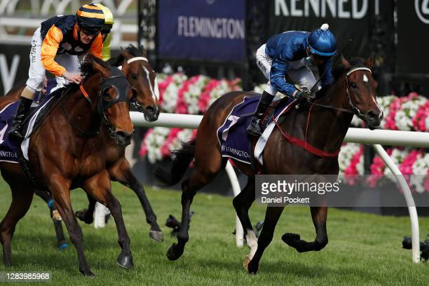 Kerrin McEvoy riding Do You Reckon wins race seven the Melbourne Cup Carnival Country Final during 2020 Kennedy Oaks Day at Flemington Racecourse on...