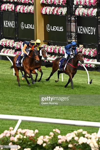 Kerrin McEvoy riding Do You Reckon wins the Melbourne Cup Carnival Country Final during 2020 Kennedy Oaks Day at Flemington Racecourse on November...