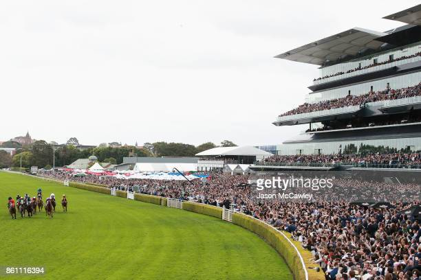 Kerrin McEvoy riding Redzel wins race 8 in The Tab Everest during The Everest Day at Royal Randwick Racecourse on October 14 2017 in Sydney Australia